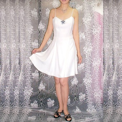 【ROBERTA】カクテルドレス [オフホワイトのドレス] GH-046