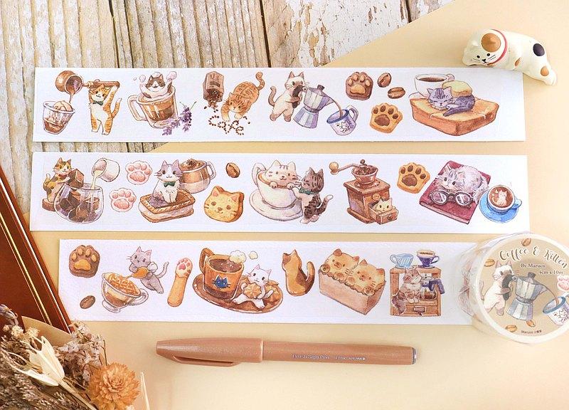 咖啡與小貓-4cm紙膠帶