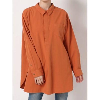 Ungrid スキッパーロングシャツ(オレンジ)
