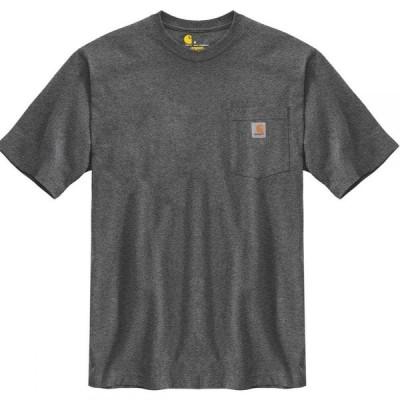 カーハート Carhartt メンズ Tシャツ トップス Workwear Pocket Short - Sleeve T - Shirt Carbon Heather