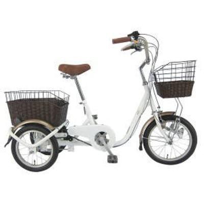★SWING CHARLIEロータイプ三輪自転車(ホワイト) 1台 送料無料 大回りしないスイング機能付きで小回りが容易なの安全&安心