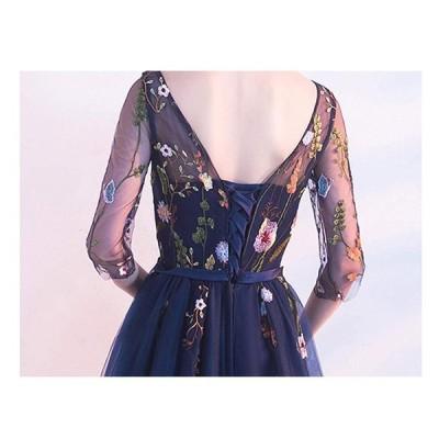 パーティードレス ドレス ロングドレス 忘年会 二次会 イブニングドレス 演奏会 Long dress ドレス 編み上げドレスライン 二次会