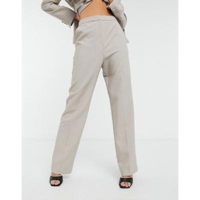 エイソス レディース カジュアルパンツ ボトムス ASOS DESIGN premium suit pants in soft camel
