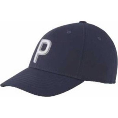 プーマ レディース 帽子 アクセサリー PUMA Women's P Golf Cap Navy Blazer