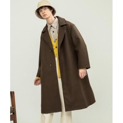 EMMA CLOTHES / オーバーサイズ ビーバーメルトン ロングチェスターコート2020-2021WINTER(EMMA CLOTHES) MEN ジャケット/アウター > チェスターコート