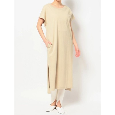 COTORICA. DOUBLE COLLAR FREANCH SLEEVE T DRESS(ベージュ)