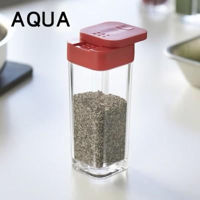 スパイスボトル AQUA(アクア) レッド キッチン 調味料 保存容器 便利 シンプル おしゃれ スタイリッシュ