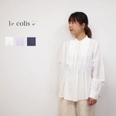 【SALE30%OFF】Lecolis /ルコリ コットン スラブ ピンタック ブラウス レディースファッション