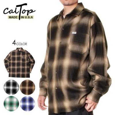長袖シャツ シャツ チェックシャツ LA発 ブランド メンズ レディース CALTOP キャルトップ OMBRE CHECK LS SHIRT