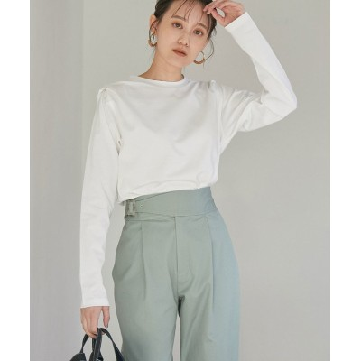 【ビス】 肩タックロングTシャツ レディース オフホワイト F ViS