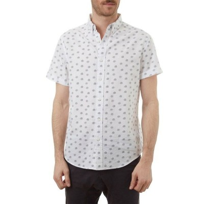 ピー エックス メンズ シャツ トップス Mini Floral Printed Regular Fit Shirt CREAM