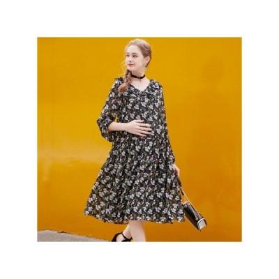 フローラル  マタニティドレス フォーマル パーティードレス お呼ばれドレス kh-1171