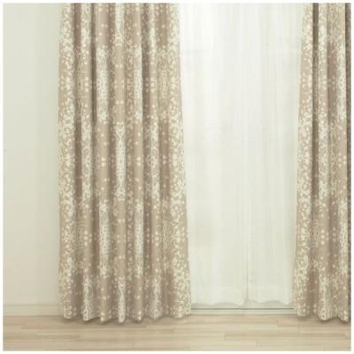 カーテン ドレープカーテン 遮光2級 北欧デザイン柄 AH543トゥーリー サイズオーダー巾45〜100cm×丈50〜100cm 1枚 OKC5