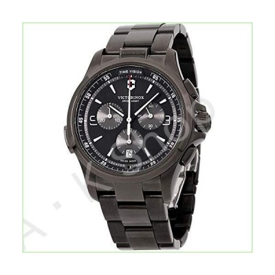 Victorinox Men's Night Vision Titanium Swiss-Quartz Watch with Stainless-Steel Strap, Black, 21 (Model: 241730)【並行輸入品】