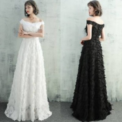 ロングドレス 黒 パーティードレス ウェディングドレス ワンピースドレス 結婚式 二次会 演奏会 白 大きいサイズ ロング丈 マキシ丈 半袖