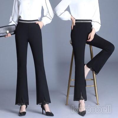 大きいサイズ 秋パンツ レディース スラックスパンツ 美脚パンツ ビジネス オフィス 通勤 スーツパンツ テーパードパンツ ロングパンツ ストレート パンタロン
