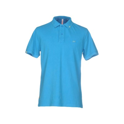 サンシックスティエイト SUN 68 ポロシャツ アジュールブルー M コットン 100% ポロシャツ
