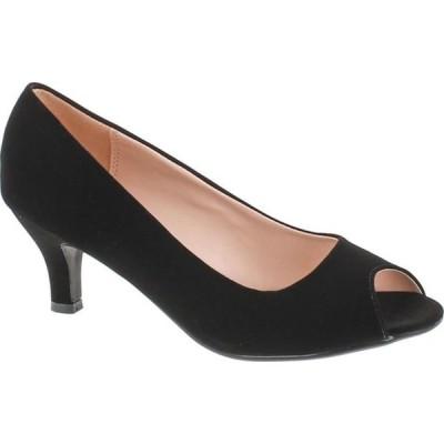 レディース 靴 ドレスシューズ BONNIBEL WONDA-2 Womens Peep Toe Low Heel Glitter Slip On Dress Pumps