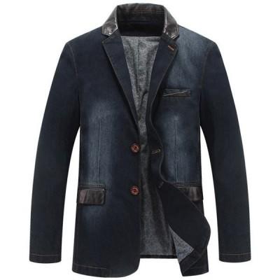 メンズコート ファッション カジュアル ロング アウター モダン スリム 上着 春秋 スーツ 大きいサイズ レザージャケット 新作 ブルゾン DB1113057-1
