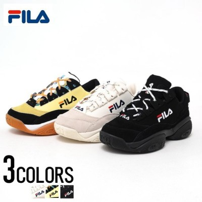 """靴 スニーカー メンズ """"FILA【フィラ】PROVENANCE/全3色""""26cm 26.5cm 27cm 27.5cm ブラック ホワイト 黒 白 黄色 フィラ バリケード 韓国"""