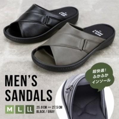 サンダル メンズ 靴 仕事 職場 快適 楽ちん シンプル パンジー pansy [6052]