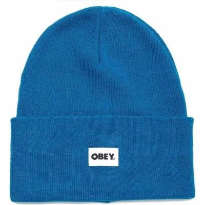 オベイ Obey Clothing レディース ニット ビーニー 帽子 bold label organic beanie Blue Sapphire
