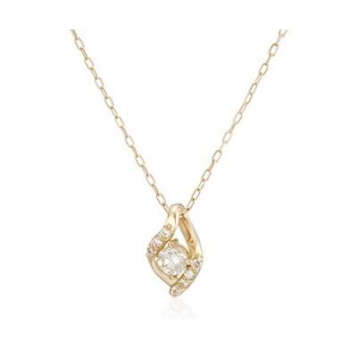 エステール ESTELLE WEB限定商品ダイヤモンド K10 イエローゴールド しずくモチーフ ネックレス 0442-8554-0011-