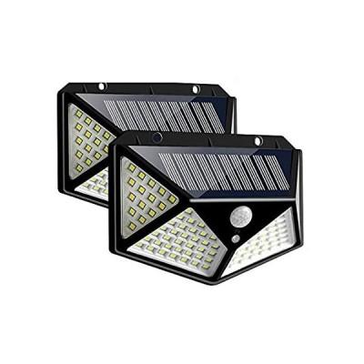 送料無料 LUMINTURS Pack of 2 Outdoor Solar Wall Lights 100 LEDs Motion Sensor Securi