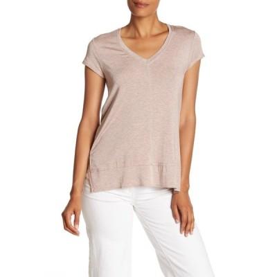 エイチ バイ ボルドー レディース Tシャツ トップス V-Neck Tunic T-Shirt HT BLUSH