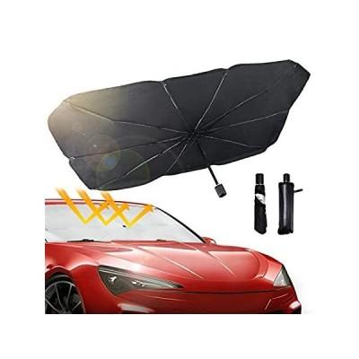 DROGO 車用フロントガラスサンシェード 傘 折りたたみ式 フロントガラス用 紫外線や熱から車両を保護 車内を涼しく保ち収納も簡単 ほとんどの車にフ