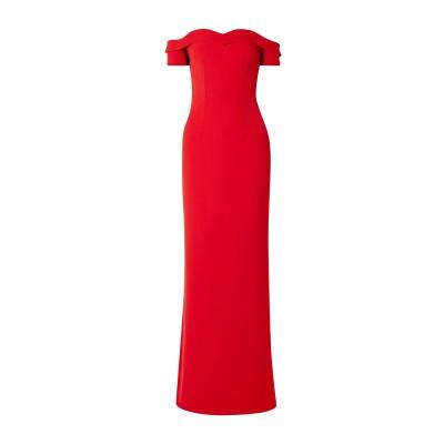 SAFIYAA ロングワンピース&ドレス レッド 42 ポリエステル 96% / ポリウレタン 4% ロングワンピース&ドレス
