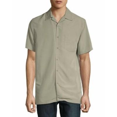 ファッション アウター Saks Fifth Avenue Black Mens Saks Fifth Avenue Camp Woven Shirt Xl Grey