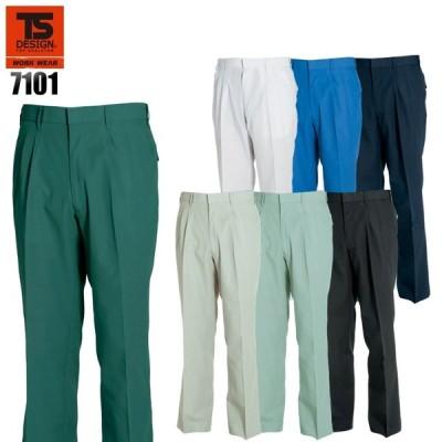 作業服 かっこいい おしゃれ 春夏用 作業着 作業ズボン スラックス 藤和TS-DESIGN7101