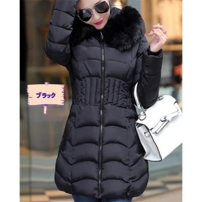 中綿ジャケット レディース 冬服 フード付き ゆったり 着痩せ 暖かい ダウンコート アウタージャケット 厚手