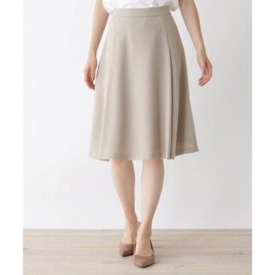 スカート 【洗える・42(LL)WEB限定サイズ】フレアミディスカート