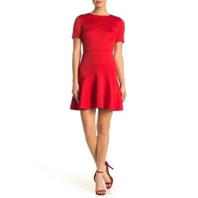 アレクシアアドマー レディース ワンピース トップス Monica Ruffle Hem Dress RED