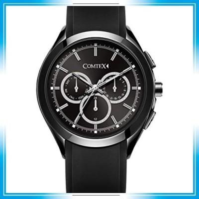 Comtex 腕時計 多機能 ブラック クォーツ 防水 ウォッチ アウトドア スポーツ 日付け 24時 曜日付け 時計 メンズ