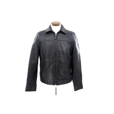 美品【COACH コーチ】    ZIP レザージャケット ブラック 黒 メンズ XS/TP