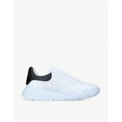 アレキサンダー マックイーン ALEXANDER MCQUEEN メンズ スニーカー シューズ・靴 Court leather mid-top trainers WHITE/BLK