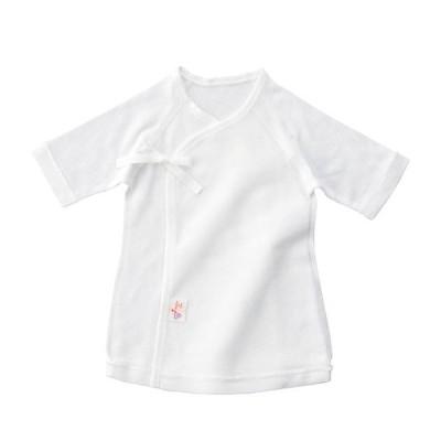 新生児ウエア 赤ちゃんの城 短肌着 白・無地 スムース(冬)
