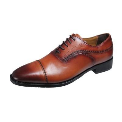 メンズシューズストレートチップ内羽根紐付きマドラス モデロ紳士靴ドレスビジネスシューズ5018ライトブラウン