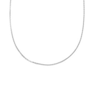 """ジャニ ベルニーニ レディース ネックレス・チョーカー・ペンダントトップ アクセサリー Rolo Link Adjustable 24"""" Necklace in Sterling"""
