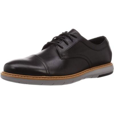クラークス レースアップシューズ 革靴 ドレイパーキャップ 本革 メンズ ブラックレザー 24 cm