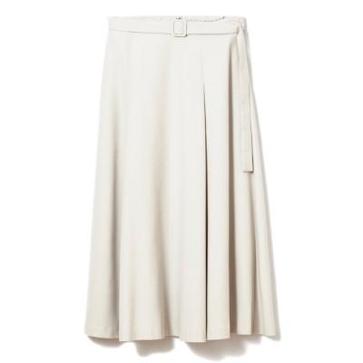 【マルシェ ド クリアインプレッション/MARCHE de CLEAR IMPRESSION】 ベルト付きタックフレアスカート