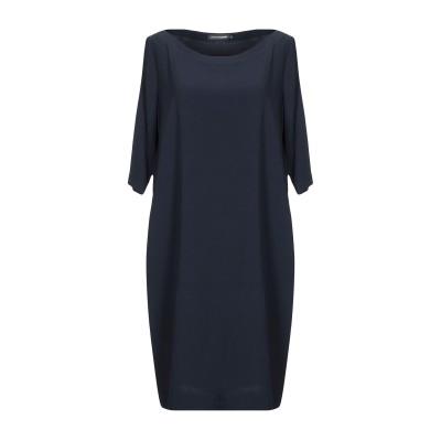 EUROPEAN CULTURE ミニワンピース&ドレス ダークブルー S レーヨン 92% / ポリウレタン 8% ミニワンピース&ドレス
