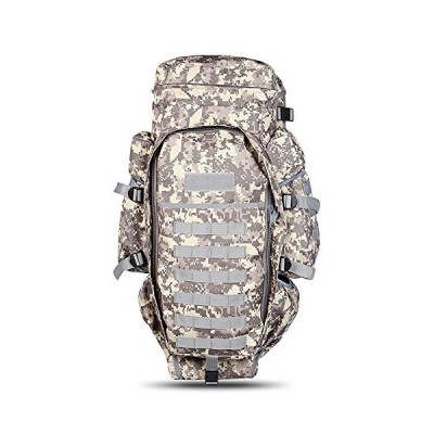 Outlife 60L Outdoor Military Backpack Pack Rucksack for Hunting Shooting Camping Trekking Hiking Traveling (ACU CAMOUFLAGE) 並行輸入品