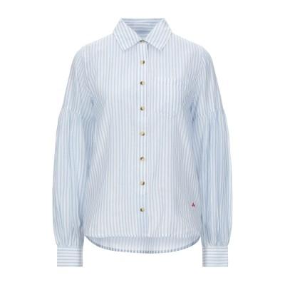 LEON & HARPER シャツ アジュールブルー XS コットン 100% シャツ