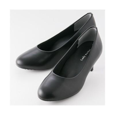 レディワーカー Lady worker 婦人靴 レディース ミドルヒール パンプス ビジネス オフィス 3E LO-17060 ブラック 22.0cm-25.0cm
