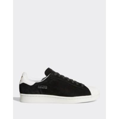 アディダス メンズ スニーカー シューズ adidas Originals Superstar sneakers New York city series Bk1 - black 1
