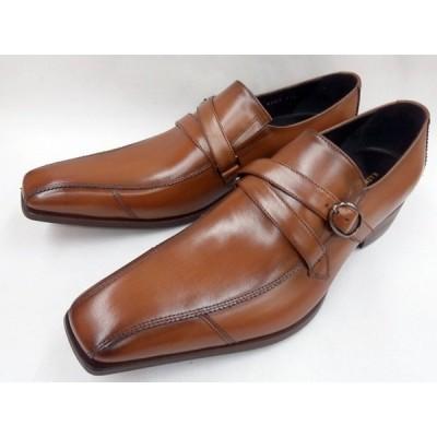 キャサリンハムネット 靴 メンズ ストラップスリポン ビジネスシューズ 31591(ブラウン)